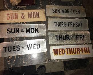 Vintage cardboard signs $50 for all