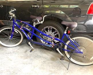 Tandem bike (a bicycle built for two)
