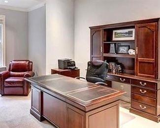 home office desk & credenza