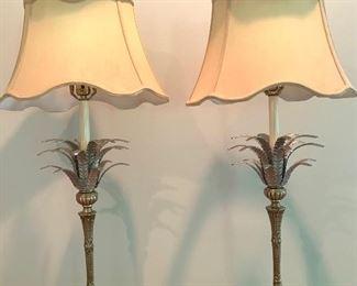 Metal palm tree lamps