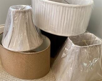 New silk lampshades (with original price tags in the  $120 range)
