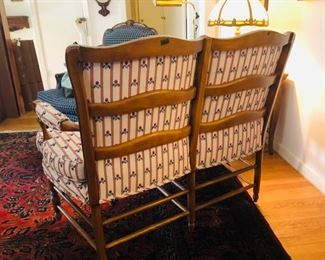 """Vintage Settee - 41"""" wide by 19"""" Deep by 18"""" high.        $225"""