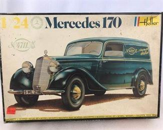 Heller Mercedes 170 V Model Kit 124 Scale