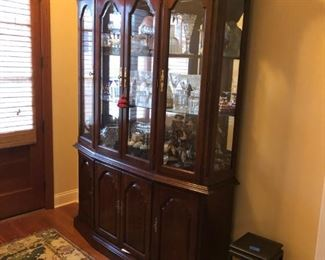 solid cherry American of Martinsville china cabinet