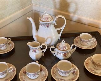 ARPO Curtea de Arges fine porcelain   Romania tea set