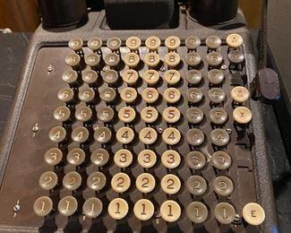 vintage Burroughs adding machine