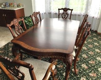 $500 or Best Offer Universal Lacquer Craft Furniture Dining Room Set 6 six chairs and 2 leaves.  Also come with custom table top for table and leaves.  $500 or Best Offer