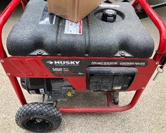 $250.00 Husky 5000 watt generator with new carb ready to install