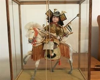 Antique Porcelain Japanese Samurai on Horse