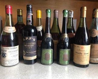 1955 Vintage Wine Bottles