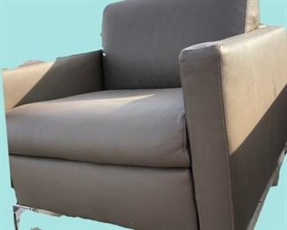 Pair of great Contemporary  Leather Club Chairs...$650 for the pair. They are very heavy!!!