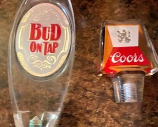 Coors and Budweiser taps