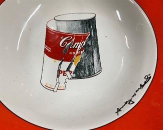Andy Warhol Campbell's soup bowl