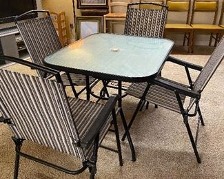 Lawn chair and table set