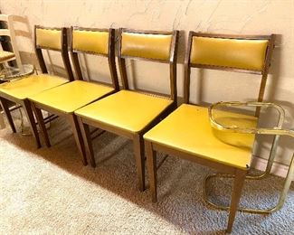 1960s straight back chairs