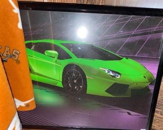Sports car framed picture
