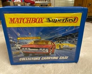 Matchbox case with cars included