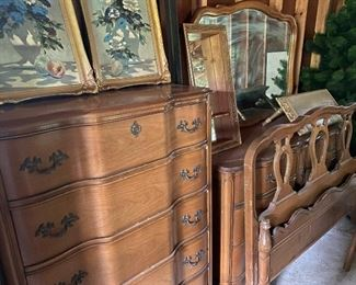 French provincial bedroom suit