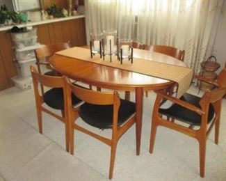 Maurice Villency Mid-Century Modern Made In Denmark Stunning Dining Room Suite Great Condition