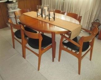Mid-Century Modern Made In Denmark Stunning Dining Room Suite Great Condition Maurice Villency