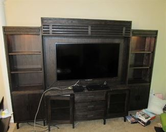 "Entertainment Center With 55"" Flatscreen Television TV included! $2000 Retail"