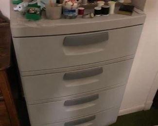 Plastic four drawer chest - $25