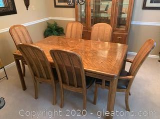 Drexel Passage Campaign Dining Table and Chairs