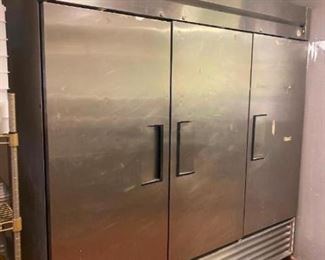 3-Door Commercial Refrigerator True model T-72 Stainless steel Needs work, seller stated it needs a new coil