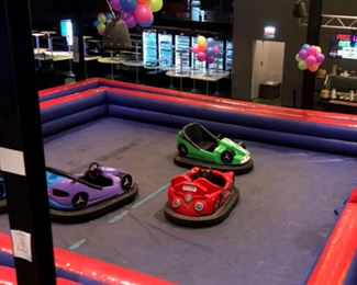 5 Bumper Cars  Made by Fun Attractions 2 styles of cars 4 of the cars are in good running condition, the 5th car is for parts only Electric cars, charger is included