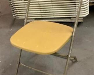 Gold Samsonite Folding Chairs