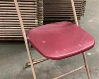 Burgundy Samsonite Folding Chairs