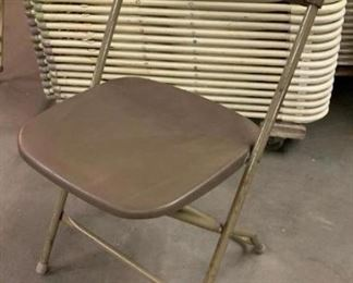 Brown Samsonite Folding Chairs