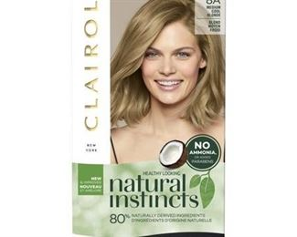 Natural Instincts Clairol Non-Permanent Hair Color - 8A Medium Cool Blonde - 1 kit