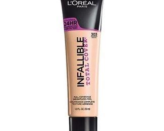L'Oreal Paris Infallible Total Cover Foundation, Nude Beige, 1 fl. oz.