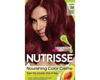 Garnier Nutrisse Nourishing Hair Color Creme, 56 Medium Reddish Brown (Sangria), 1 kit