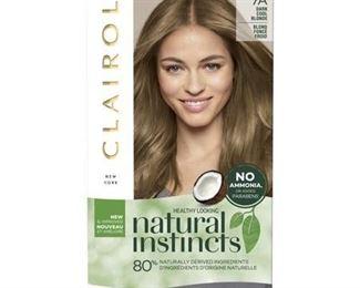 Clairol Natural Instincts Demi-Permanent Hair Color - 7A Dark Cool Blonde, Sandlewood - 1 Kit