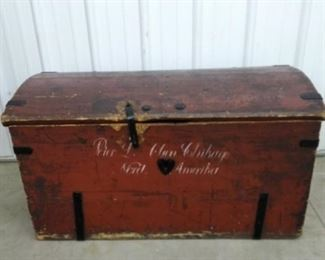 Antique Trunk with Rod