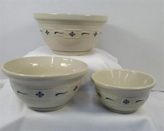 Longerberger 3 piece bowl set