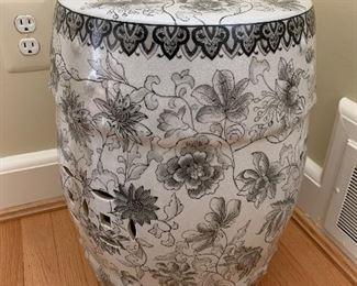"Ceramic garden bench in great condition. 18""x12"" - $125"