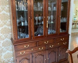 """Henkle Harris Mahoney Chippendale China Cabinet. 6'6""""x5' $2,695"""