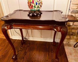 Mahogany Game Occasional Table