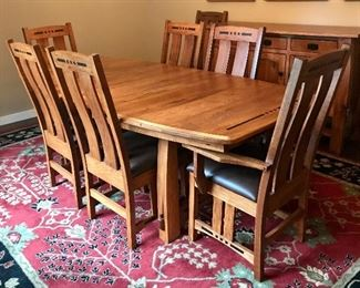 """Dovetails"" - Gorgeous dining table & chairs"