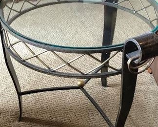 #3 ~($150) Another view of glass top  end table