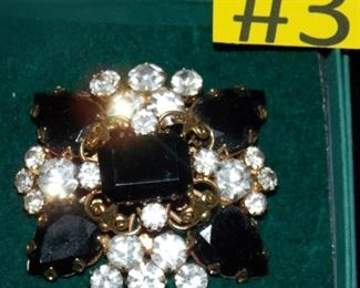 #3 Vintage Brooch all stones present clasp is good.  $25 go to Tas-Estate-Sales.com to purchase.