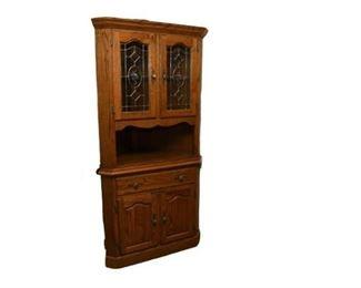 7. Wooden Corner Cabinet