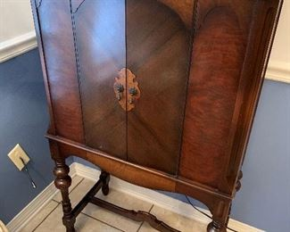 3A              Nice! Philco Company Radio Cabinet with Needlepoint.  Does not work. 29 Wide x 48 High x 14 Deep  $175.00