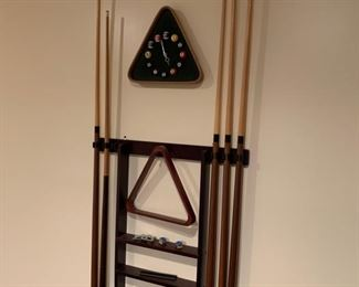 Pool table accessories included with purchase of Pool Table.