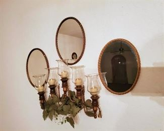 Candle and Mirror Decor