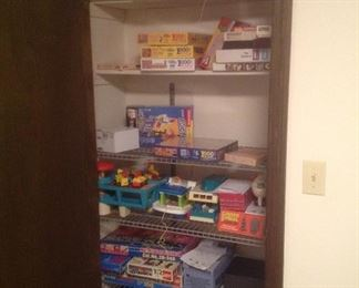 Lots of games, puzzles and toys.  Variety of prices.