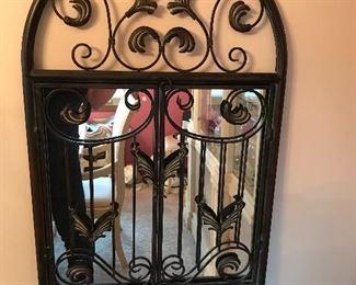Iron metal mirror,  2'W x 3'H,  $40